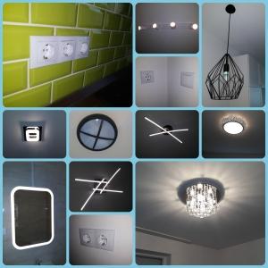 szerelvényezés, lámpák, kapcsolók, dugaljak felszerelése.